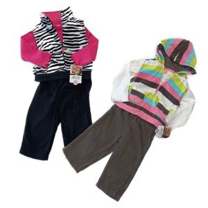 2 Sets of Fleece Outfits